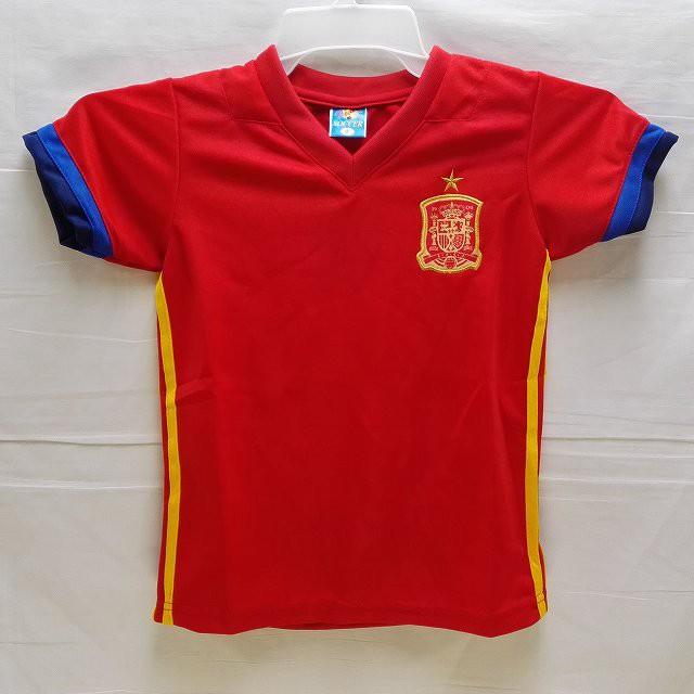 子供用 K014 17 スペイン 赤 ゲームシャツ パンツ...