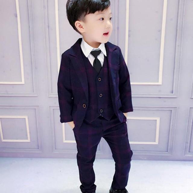 子供スーツ 3点セット フォーマル 子供発表会入...