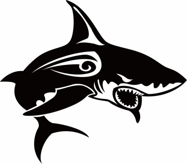 カッティングステッカー 〜 シャーク(shark) サメ...