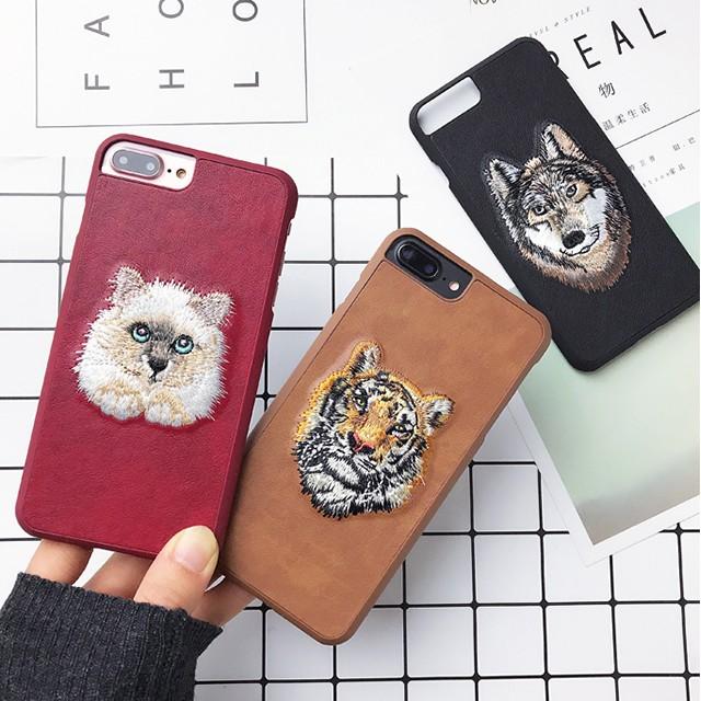アニマル 刺繍 iPhone シェルカバー ケース オオ...
