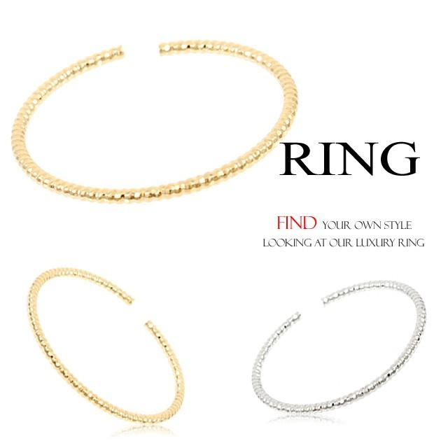 華奢で細身なリング 指輪 フリーサイズリングBN...