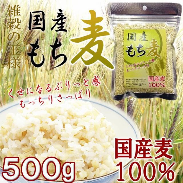 もち麦 国産100% 500g(250g×2) 送料無料 ...