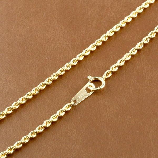 18金ネックレス メンズチェーン ネックレス 50cm ...
