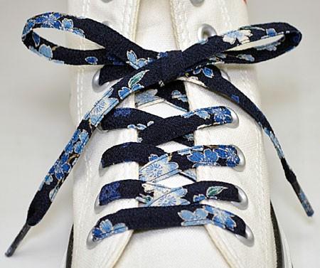 メール便 和柄靴ひも 柄多数ちりめん靴紐ノーマル おしゃれなメンズレディーススニーカーくつひも クツヒモ  日本製シューレース(色283)の通販はWowma!