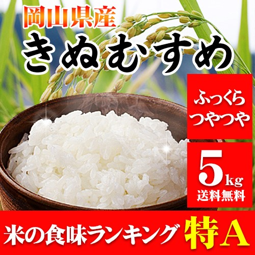 新米 5kg 30年産 岡山県産きぬむすめ5kg 送料無料...