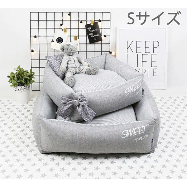 ペット用 ベッド ドッグベッド キャット ベッド S...