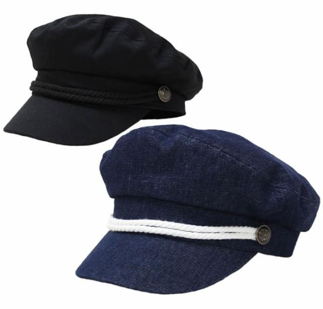 マリンキャップ コットンマリンキャスケット 帽子...