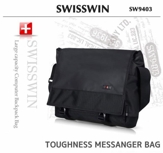 SWISSWIN SW9403 ショルダーバッグ ビジネスバッ...