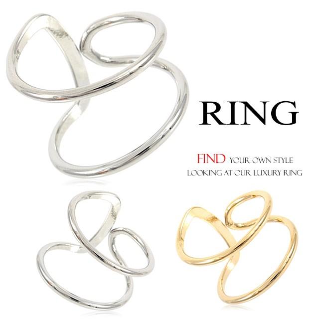 左右対称2ラインリング 指輪 フリーサイズリン...