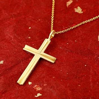 ネックレス メンズ 純金 24金 24K クロス 十字架 ...