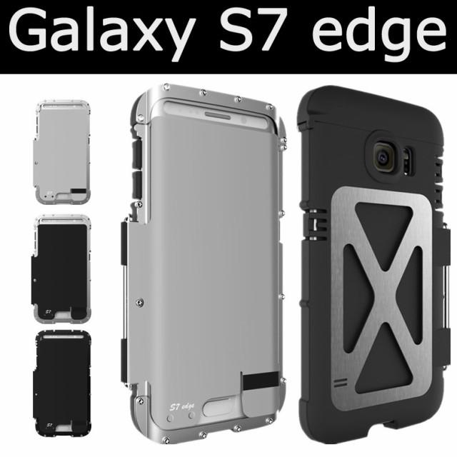 Galaxy s7 edge 手帳型ケース ステンレス鋼+PC ga...