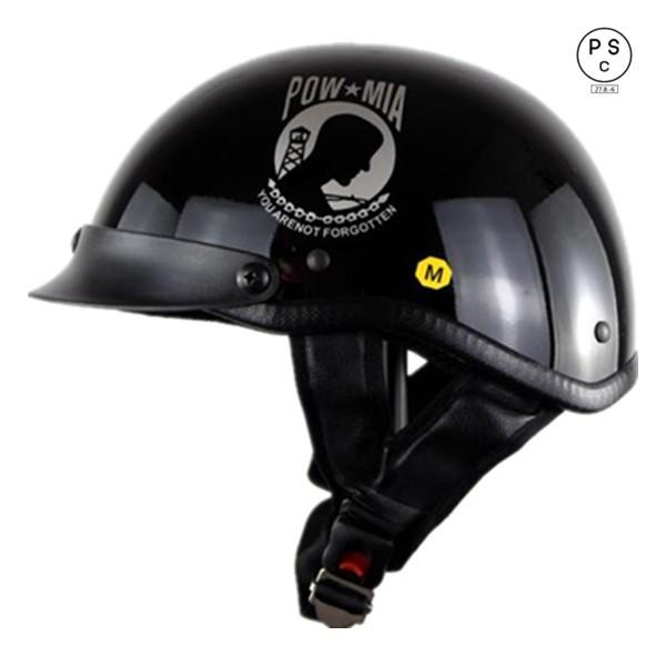 バイクヘルメット ハーレー 半キャップ ハーフヘ...