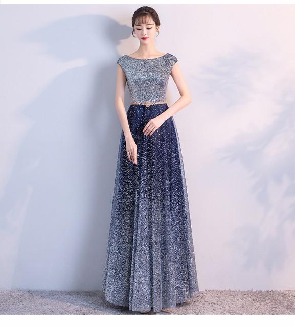 キラキラ ロングドレス 演奏会  結婚式 ドレス ウ...