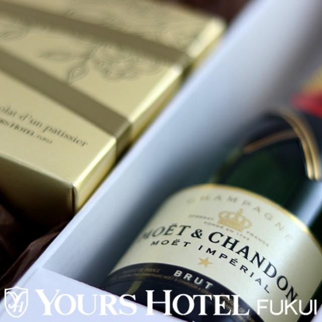 MCC-12-2 モエ・エ・シャンドン200mlとシャンパン生チョコ12個入り2箱セット