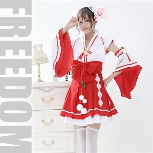 巫女 アイドル 神社 着物ドレス 巫女装束 コスプ...