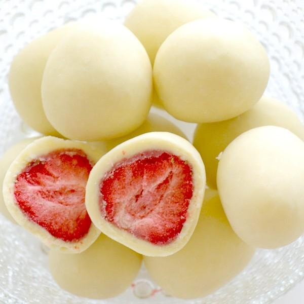 六花亭 ストロベリーチョコ ホワイト【袋入】 80g...