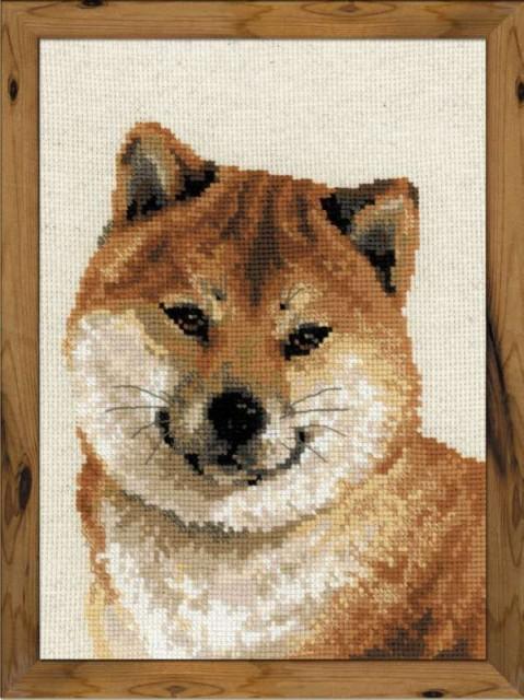 RIOLISクロスステッチ刺繍キット No.1280 「Shiba...