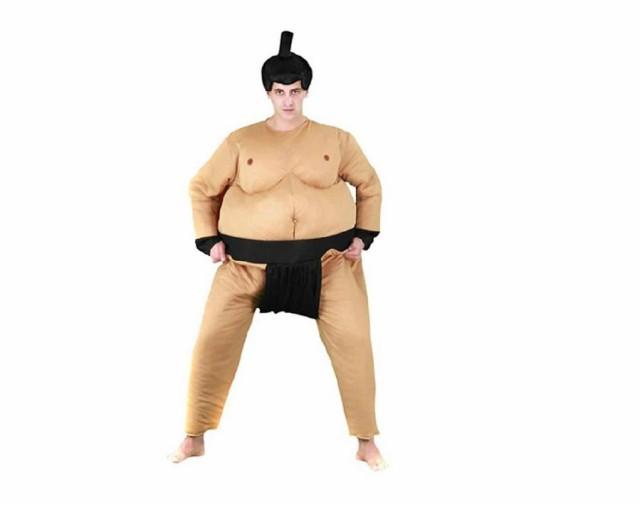 相撲用 仮装 相撲服 つなぎ筋肉相撲服 かつら付 ...