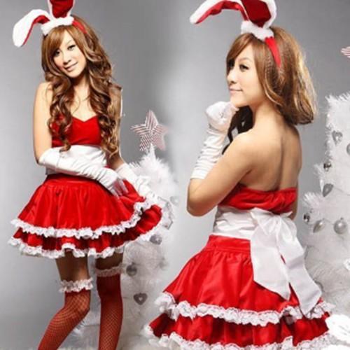 【翌日発送】サンタ コスプレ レディース サンタコス クリスマス コスチューム バニーガール/レディース