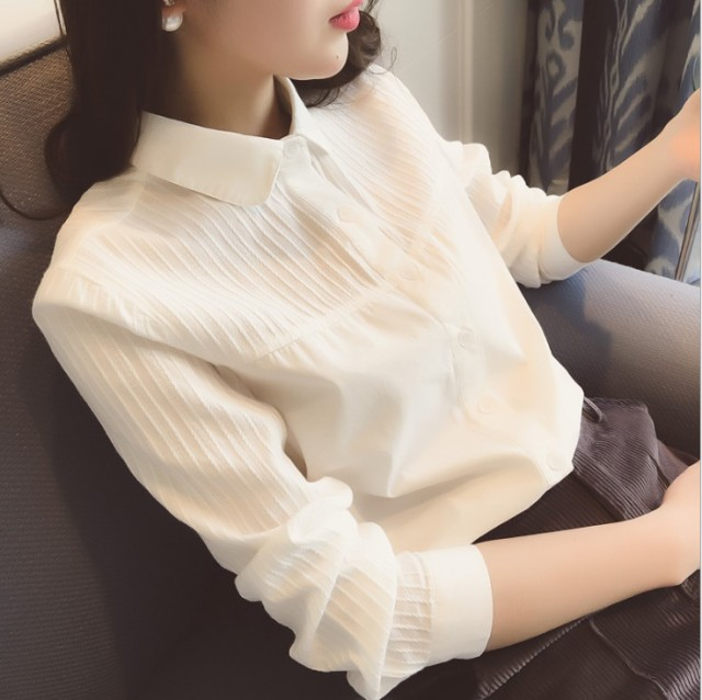 新品 ブラウス シャツ レディース シンプルな白い...