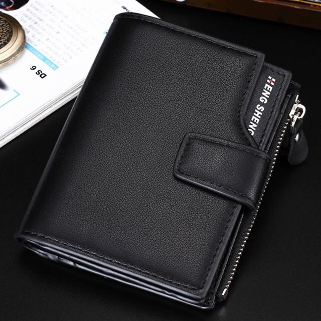 二つ折り 財布 メンズ 大容量 カード 12枚...