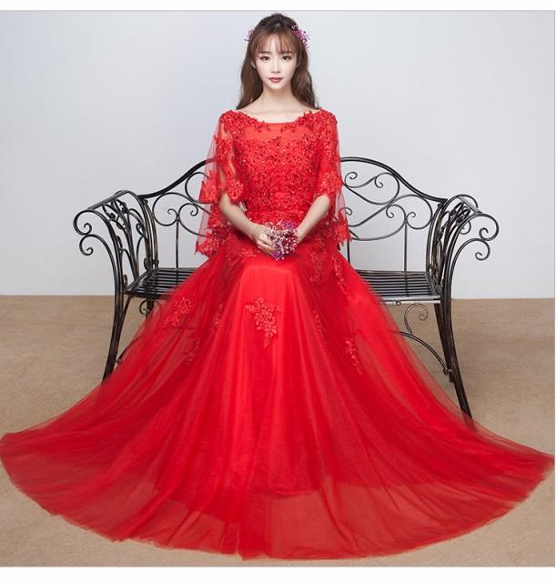 大人気 ウェディングドレス 優雅 ロングドレス エ...