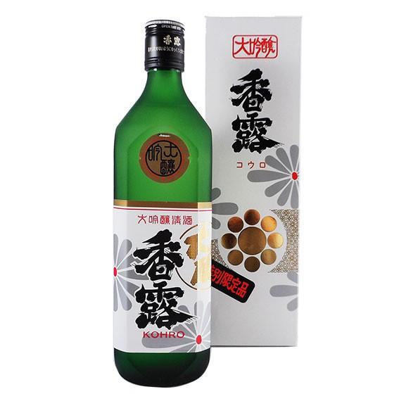 お歳暮 ギフト 香露 こうろ 大吟醸 雫酒 720ml 熊...