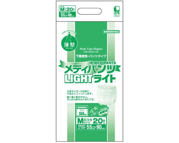 介護用紙オムツ メディパンツライトM-20 20枚×4...