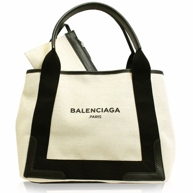 バレンシアガ BALENCIAGA バッグ トートバッグ ナチュラル ブラック キャンバス レザー レディース ブランド 339933-aq35n-282 新品