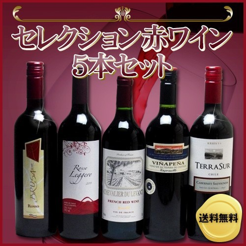 ワインセット 赤ワイン 5本( スペインワイン 1本 ...