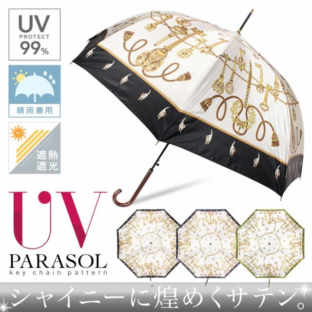 【58cm】晴雨兼用 日傘 UVカット率99% ワンタッチ...