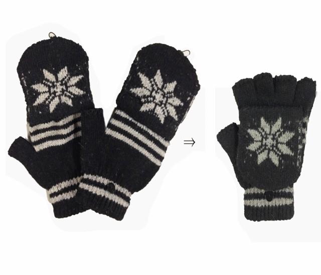 指なし+ミトン2WAY手袋 MST1104 寒さ対策 防寒...