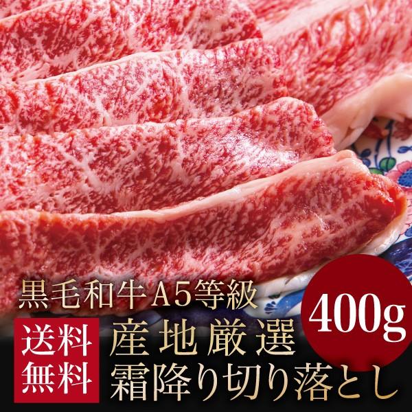 牛肉 A5等級 黒毛和牛切り落とし 送料無料 400g ...