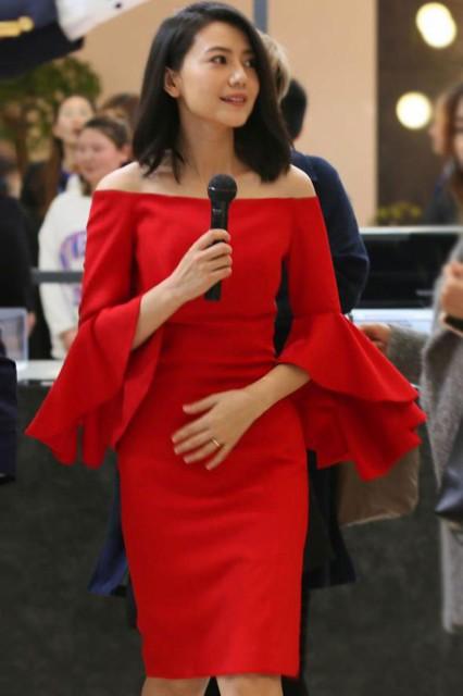 パーティードレス スリム 肩 イブニングドレス 赤...