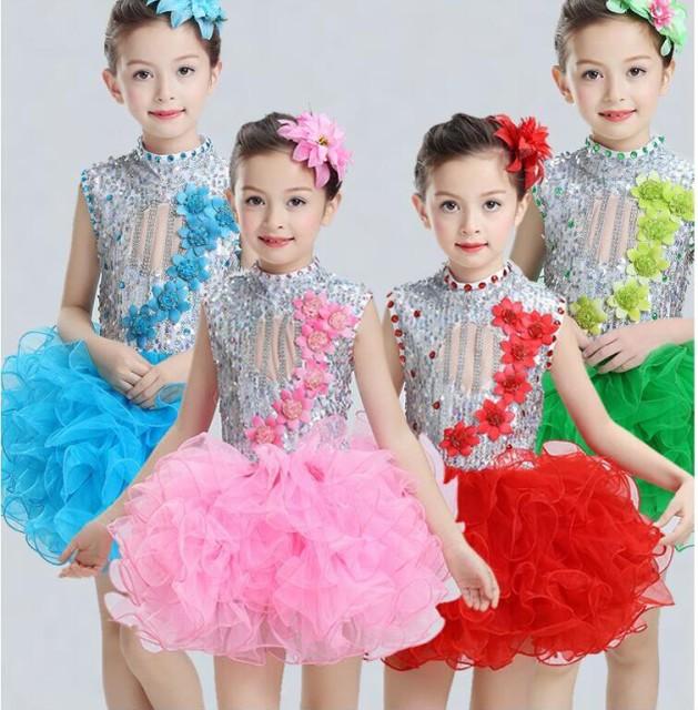子供 ダンス衣装 女の子 ワンピース ダンスウェア...