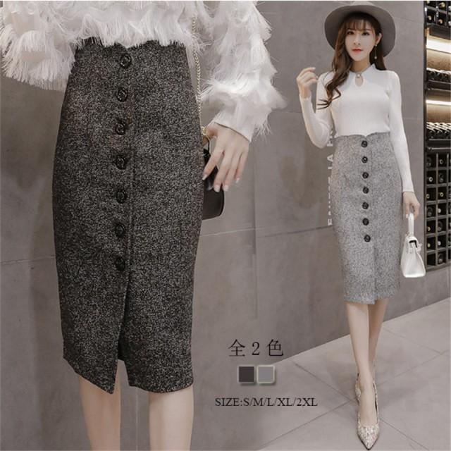 短納期個性的大きいサイズタイトスカート スリッ...