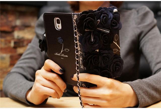 花柄Samsung Galaxy Note8 S9/S9+ S8/S8+ S7/S7ed...