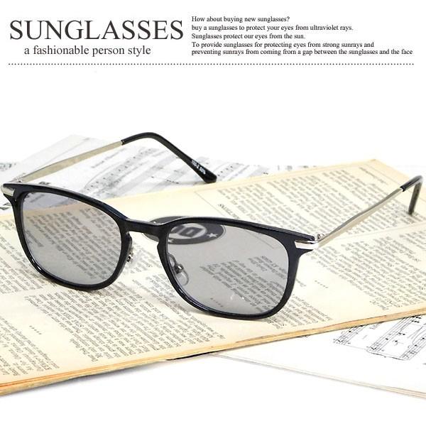 ウェリントン型 サングラス メンズ レディース UV...