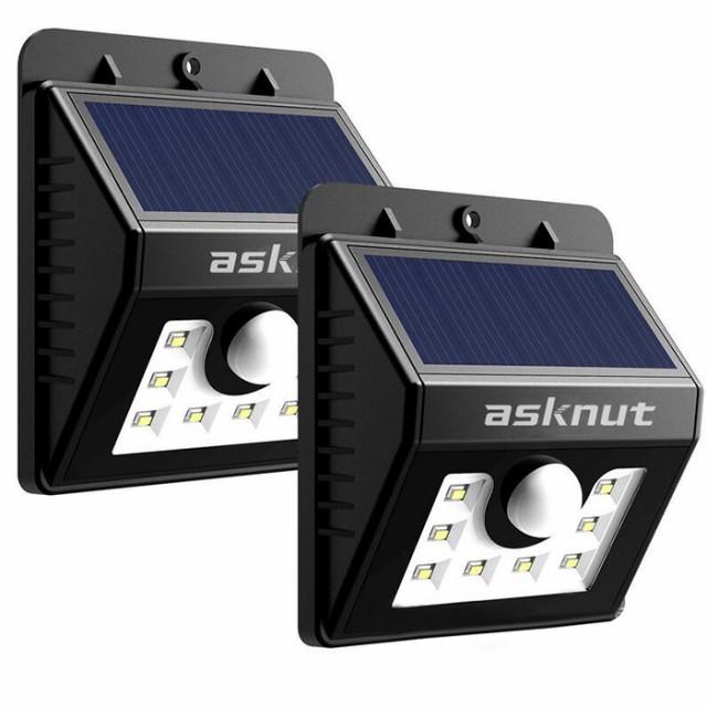 LED センサーライト【二個セット】ソーラーライ...