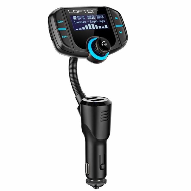 LOFTER FMトランスミッター Bluetooth 4.2 QC3.0...