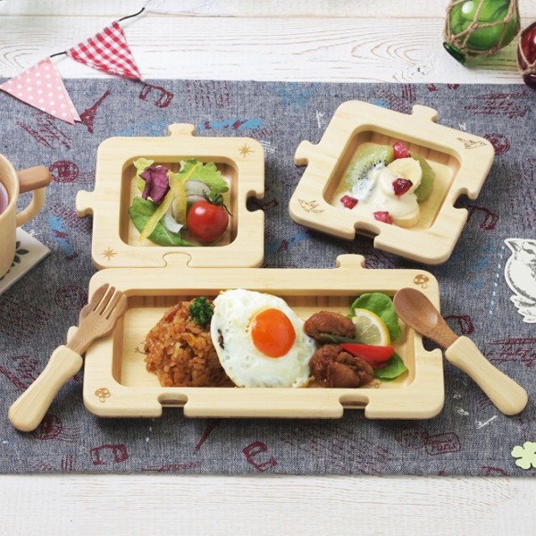アグニー ジグソープレートセット パズル型 子供用 食器セット お子様プレート 日本製