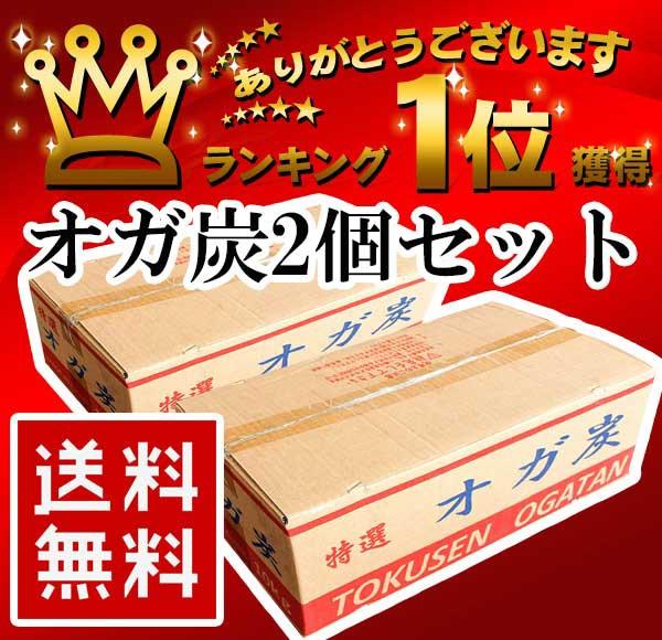 【お得2個セット】 特選オガ炭 中国産 10kg 送料...