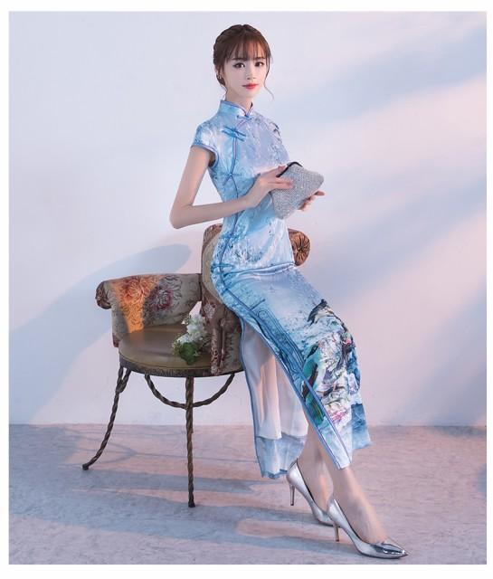 ファッションショー チャイナドレス スレンダー...