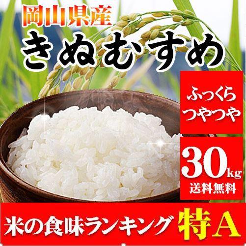 米 お米 29年産岡山県産きぬむすめ30kg【5kg×...
