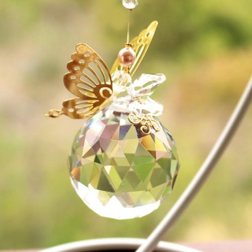蝶々 サンキャッチャー♪スタンドセット 約40mm玉...