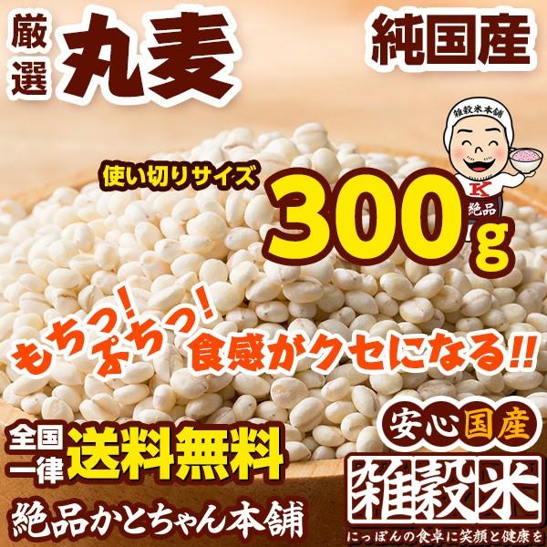 雑穀 丸麦 300g 厳選国産 使い切りサイズ 送...