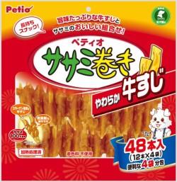 【ペティオ】ササミ巻き やわらか牛すじ 48本...