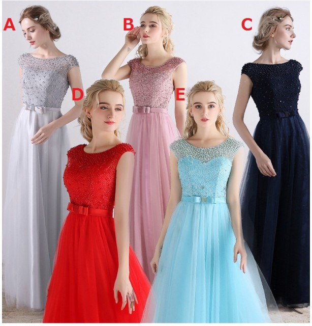 6色選択 韓国風 ロングドレス 優雅 フォーマルド...