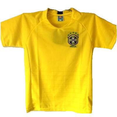 子供用 K012 18 ブラジル 黄 ゲームシャツ パンツ...