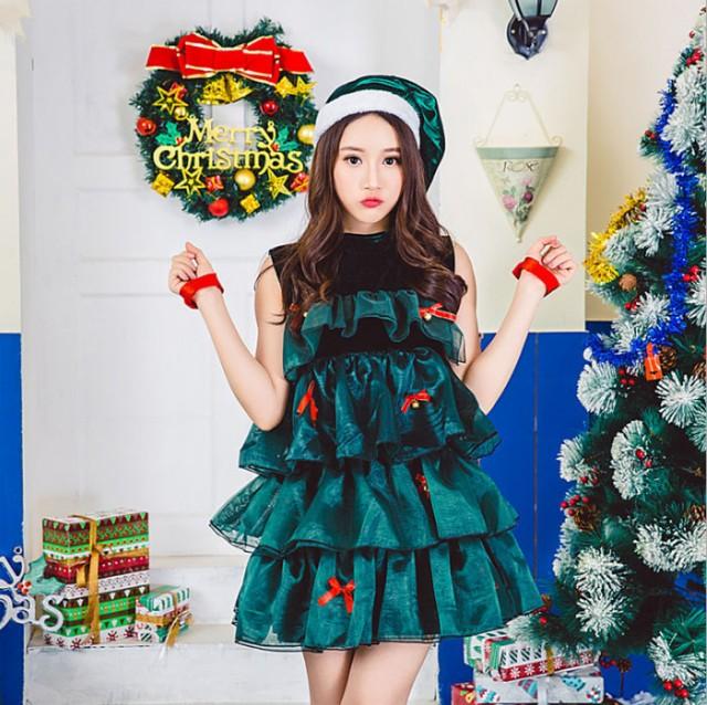即納 送料無料 クリスマス サンタ コスプレ ハロウィン コスプレ 衣装 サンタ クリスマスツリー サンタコスクリスマス サンタクロース コ